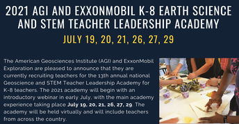 American Geosciences Institute Opportunity: July