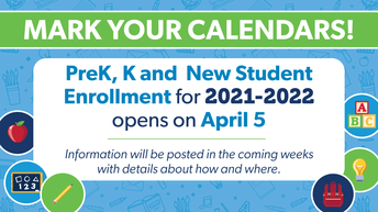 PreK, Kinder, and New Student Registration