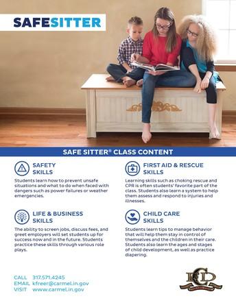 SAFE SITTER CLASS INFORMATION