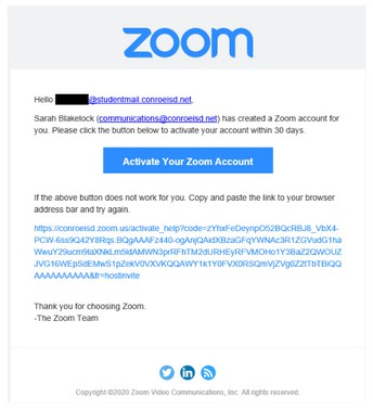 Student Zoom Accounts for Remote Learners