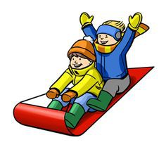 Sledding During Afternoon Recess