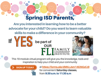 Click here to register for the Family Leadership Institute