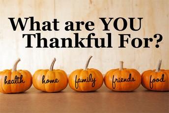 November 25-29: Thanksgiving Break