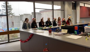 Choir does some holiday caroling