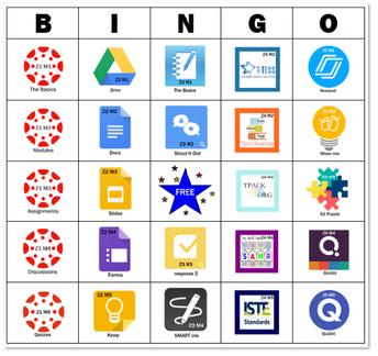Bingo Board of Badges