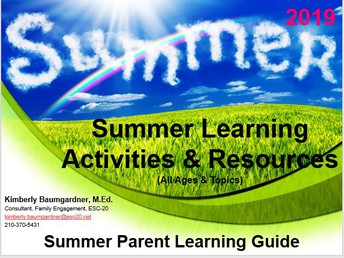What's in the Summer Learning Activities & Resources Parent Learning Guide?