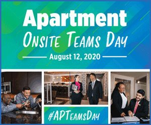 Apartment Onsite Teams Day is Aug 12!!