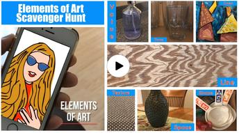 Elements of Art Scavenger Hunt K-5