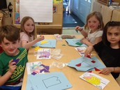 Working with Tangrams.
