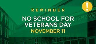 No School, Nov. 11th