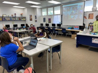 Blended learning in Mrs. April White's classroom