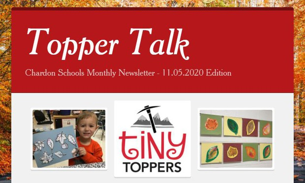 Front Page of Nov. 2020 Topper Talk - Click Image to View Newsletter
