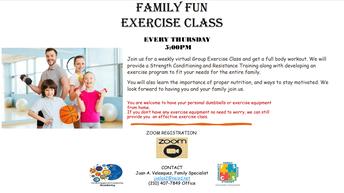 Family Fun Exercise Class