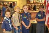 Boy Scouts Attending the Program