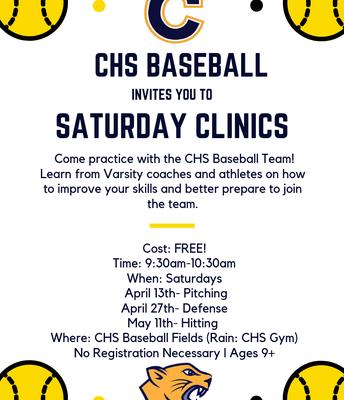 CHS Baseball Saturday Clinics