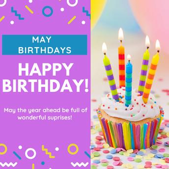 Happy Birthday May Birthdays!