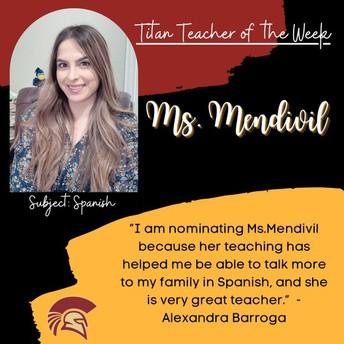 Ms. Mendivil | Spanish