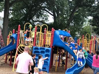 Children enjoyed playing on the playground