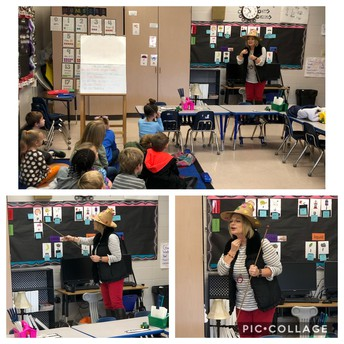 Mrs. Strick visits Kinder!