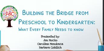 Building the Bridge from Preschool to Kindergarten