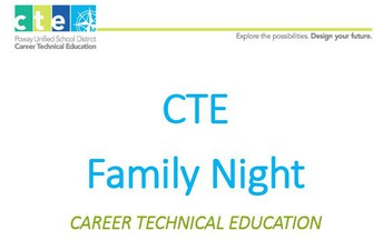 CTE Tarde del Familia/Family Night