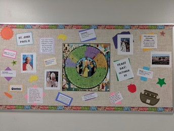 St. John Paul II Bulletin board