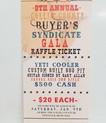 Buyers Syndicate Raffle Tickets