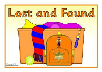 CHECK LOST & FOUND ON DECEMBER 13th