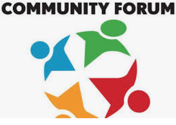 UPDATE: WE WILL HAVE A COMMUNITY FORUM THIS WEEK