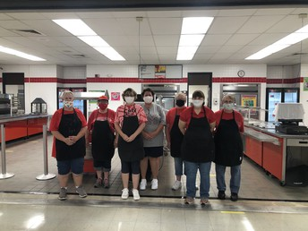 Hard working cafeteria staff