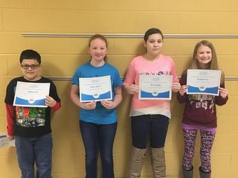 6-8 Spelling Bee Winners