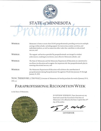 Para Recognition Week, Jan. 25-31