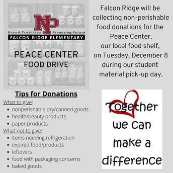 Falcon Ridge Peace Center Food Drive