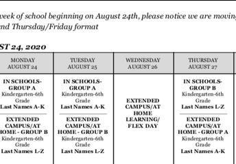 Week of August 24, 2020