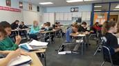 Working hard in math