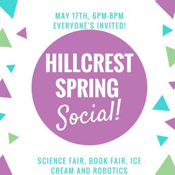 PTO Spring Social is HERE - Thursday, May 17th - 6-8PM!