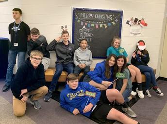 Christmas Fun 8th-grade Students