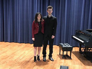 Erin Hall, McClure Piano Award and Ethan Stahl, McHaney Piano Award