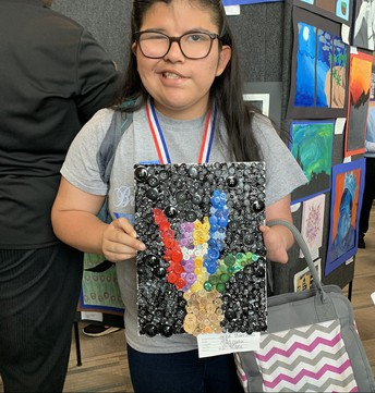 Jackie Barrientos - UIL Art Competition - Third Place