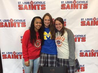 Congratulations to Lady Saints Signees!