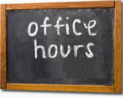 Staff Office Hours Week of 5/10