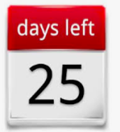 25 Days until the 1st Semester is over!!!!!