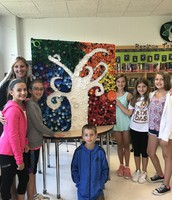 Mrs. Biancardi and students with Durham Fair project