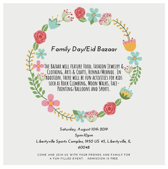 Family Day / Eid Bazaar At Libertyville Sports Complex