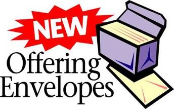 2021 Offering Envelopes Ready for Pickup