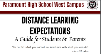 Distance Learning Expectations