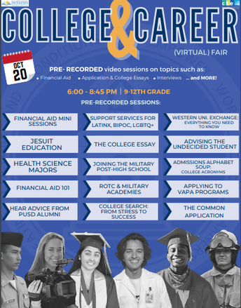 PUSD Virtual College Fair-In Case you Missed it!