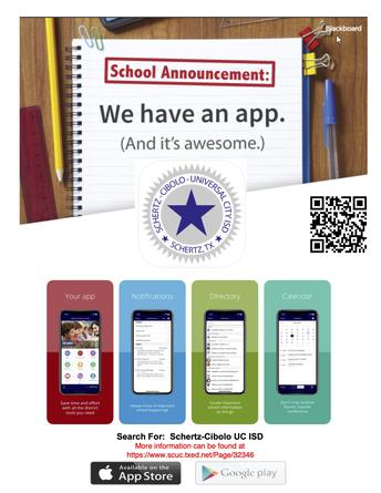 flyer for scucisd mobile app