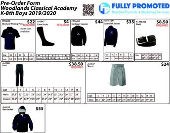 Kinder-8th Grade Boys Uniform