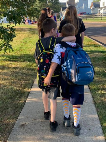 Walk/Bike to School Day at Trumbauersville